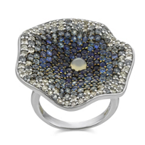 Raymond_Hak_Sterling_Silver_Blue_and_White_Sapphire_Flower_Ring