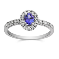 14K_White_Gold_Oval_Tanzanite_and_Round_Diamond_Ring