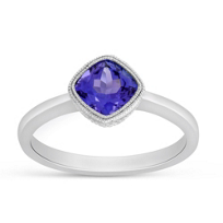 14K_White_Gold_Cushion_Tanzanite_Ring