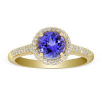 14K_Yellow_Gold_Tanzanite_and_Diamond_Halo_Ring