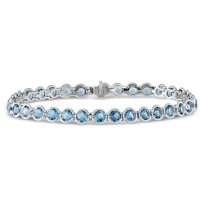 14K_White_Gold_Blue_Topaz_Bezel_Set_Bracelet
