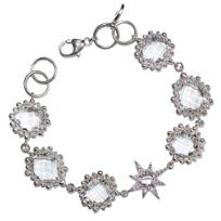 Anzie_Sterling_Silver_Aztec_Starburst_Clear_Topaz_Link_Bracelet