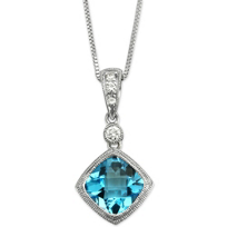 14K_White_Gold_Cushion_Checkerboard_Blue_Topaz_and_Diamond_Pendant