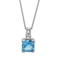 14K_White_Gold_Cushion_Blue_Topaz_and_Round_Diamond_Pendant