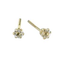 14K_Child's_White_Topaz_Earrings