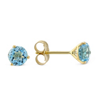 14K_Yellown_Gold_Blue_Topaz_Stud_Earrings