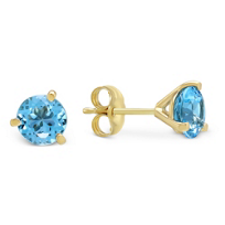 14K_Blue_Topaz_Stud_Earrings
