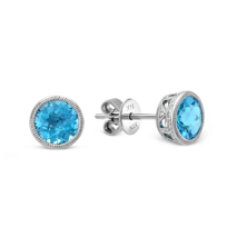 14K_White_Gold_Round_Checkerboard_Blue_Topaz_Earrings