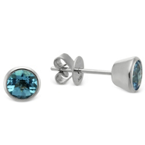 14K_White_Gold_Blue_Topaz_Bezel_Set_Stud_Earrings