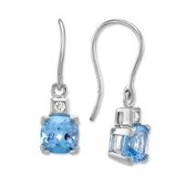 14K_White_Gold_Cushion_Blue_Topaz_and_Round_Diamond_Drop_Earrings