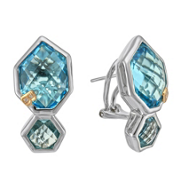 Bellarri_Sterling_Silver_and_18K_Rose_Gold_Blue_Topaz_and_Diamond_Earrings