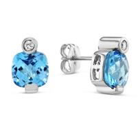 14K_White_Gold_Blue_Topaz_and_Diamond_Earrings