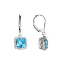 14K_White_Gold_Blue_Topaz_&_Diamond_Halo_Dangle_Earrings