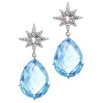 Anzie_Sterling_Silver_Aztec_Starburst_Blue_Topaz_Drop_Earrings