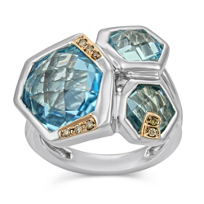 Bellarri_Sterling_Silver_and_18K_Rose_Gold_Blue_Topaz_and_Brown_Diamond_Ring