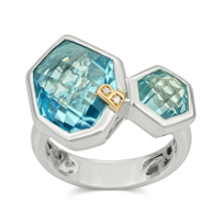 Bellarri_Sterling_Silver_and_18K_Rose_Gold_Blue_Topaz_and_Diamond_Ring