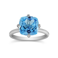 14K_White_Gold_Cushion_Blue_Topaz_Ring
