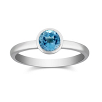 14K_White_Gold_Bezel_Set_Round_Blue_Topaz_Ring