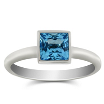 14K_White_Gold_Bezel_Set_Princess_Cut_Blue_Topaz_Ring