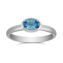 14K_White_Gold_Bezel_Set_Oval_Blue_Topaz_Ring