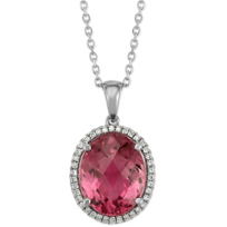 14K_White_Gold_Oval_Pink_Tourmaline_and_Diamond_Pendant