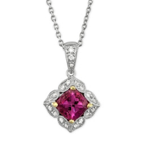 14K_Yellow_and_White_Gold_Cushion_Pink_Tourmaline_and_Round_Diamond_Pendant