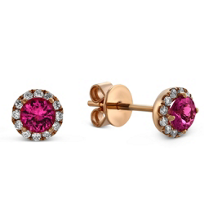 14K_Rose_Gold_Pink_Tourmaline_and_Round_Diamond_Halo_Earrings