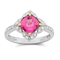14K_Yellow_and_White_Gold_Cushion_Checkerboard_Pink_Tourmaline_and_Diamond_Ring
