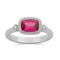 14K_White_Gold_Checkerboard_Cushion_Pink_Tourmaline_and_Diamond_Ring