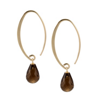14K_Smokey_Quartz_Earrings