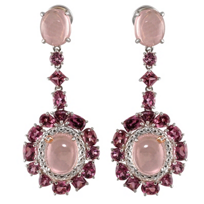 Sterling_Silver_and_18K_Rose_Quartz,_Rhodolite_Garnet_and_Diamond_Earrings