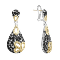 Lagos_Sterling_Silver_and_18K_Yellow_Gold_Black_Spinel_and_Diamond_Drop_Earrings