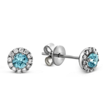 14K_White_Gold_Blue_Zircon_and_Round_Diamond_Halo_Earrings