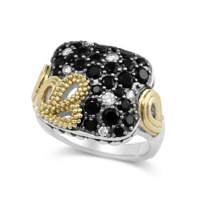 Lagos_Sterling_Silver_and_18K_Yellow_Gold_Black_Spinel_and_Diamond_Ring