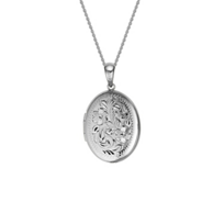 14K_White_Gold_Oval_Locket_Pendant