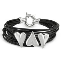 Sterling_Silver_Heart_Black_Leather_Bracelet