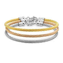 Sterling_Silver,_Rose_and_Yellow_Tone_and_Stainless_Steel_Bangles,_Set_of_3