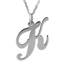 "Sterling_Silver_Medium_""K""_Pendant"