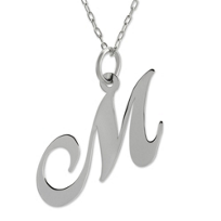 "Sterling_Silver_Medium_""M""_Pendant"