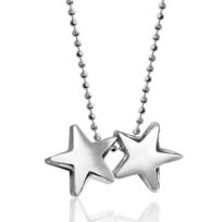Alex_Woo_Sterling_Silver_Twin_Stars_Gemini_Zodiac_Pendant