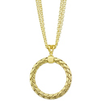 Roberto_Coin_Sterling_Silver_&_Yellow_Tone_Open_Circle_Pendant