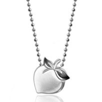 Alex_Woo_Sterling_Silver_Little_Peach_Pendant,_16""