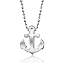 Alex_Woo_Sterling_Silver_Little_Seasons_Anchor_Pendant,_16""
