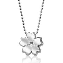 Alex_Woo_Sterling_Silver_Little_Cities_Cherry_Blossom_Pendant,_16""