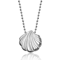 Alex_Woo_Sterling_Silver_Little_Shell_Pendant,_16""