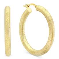 Sterling_Silver_and_Yellow_Tone_Matte_and_Sparkle_Hoop_Earrings,_35mm