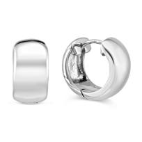 """Sterling_Silver_Hoop_Earrings,_1/2"""""""