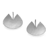 Sterling_Silver_Hammered_Lily_Pad_Earrings