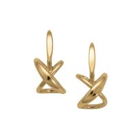 "Sterling_Silver_and_Yellow_Tone_Secret_Heart_Earrings,_3/4"""