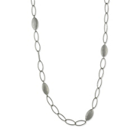 Sterling_Silver_Sparkle_Marquise_Pebble_Link_Station_Necklace,_48""